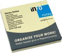 Info Notes Бумага клейкая INFO 75x75мм, 100 листов,  желтая