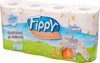 FIPPY Туалетная бумага 8 рулона 3 слоя 15m
