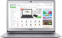 """ACER Swift 3 Sparkly Silver (NX.GKBEU.049), 14.0"""" HD (Intel® Pentium® 4405U 2.10GHz (Skylake), 4Gb DDR4 RAM, 128Gb SSD, Intel® HD Graphics 520, CardReader, WiFi-AC/BT, 4cell, HD Webcam, RUS, Linux, 1.5kg, 17.95mm)"""