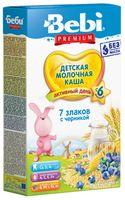 Bebi Молочная каша Premium 7 злаков с черникой  (6+) 200 гр.