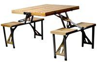 купить Стол раскладной+4стула 85X72сm, дерево, чемодан в Кишинёве