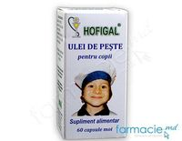 Ulei de peste copii 300 mg (Omega,Vit.D)  caps.N60 Hofigal