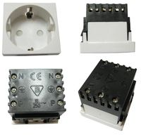 EPS-GE-45 Electrical Power Socket Germany Type, 45mm*45mm, Legrand Mosaic