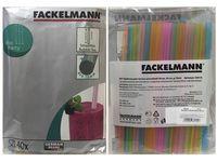 Набор соломок для коктейля Fackelmann 40шт 20cm, D1cm