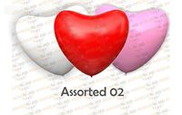 Шары латексные Сердце в упаковке (H12'') (50шт)