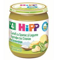Hipp пюре из шпинат с картофелем, 4 мес, 125 гр