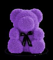 купить Медведь из фиолетовых    роз 70 см в Кишинёве