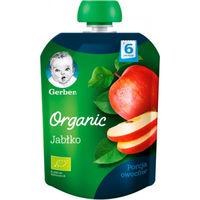 Gerber пюре Органик яблоко 4 мес, 90 гр