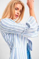 Пиджак ORSAY Голубой в полоску 481219