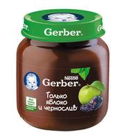 Gerber пюре яблоко-чернослив 5+мес. 130г