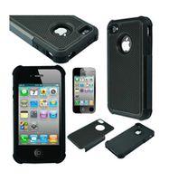 Husa de protectie Go Cool pentru iPhone 4, Black-Black