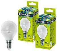 Bec LED Ergolux LED G45 7W E14 3000K
