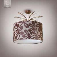 N&B Light Люстра Саванна 8933-1 коричневый беж золото