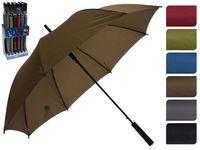 Зонт-трость автомат D57cm, одноцветный, 6цветов