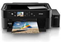 Epson L850 Copier/Printer/Scanner, A4, Print resolution: 5760x1440 DPI, Scan resolution: 1200x2400 DPI, Memory Stick Duo/Pro/Pro Duo, Wi-Fi/USB 2.0 Interface