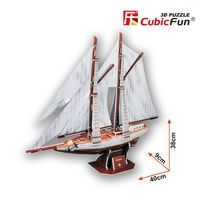 3D PUZZLE Two-masted schooner
