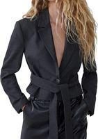 Пиджак ZARA Тёмно-серый 7901/201/801