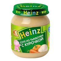 Heinz пюре соте из тыковки с курочкой 6+мес. 120г