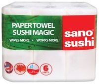 Sano бумажные полотенца, 2 слоя, 6 рулона