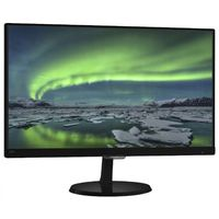 """23.0"""" Philips """"237E7QDSB"""", G.Black (IPS, 1920x1080, 5ms, 250cd, LED20M:1, DVI, HDMI, Headphone-Out) (23.0"""" AH-IPS W-LED, 1920x1080 Full-HD, 0.265mm, 14 ms (5ms GTG), 250 cd/m², DCR 20 Mln:1 (1000:1), 16.7M Colors, 178°/178° @C/R>10, 30-83 kHz(H)/56-76 Hz(V), HDMI-MHL + DVI-D + Analog D-Sub, HDMI Audio-In, Headphone-Out, External Power Adapter, Fixed Stand (Tilt -5/+20°), VESA Mount 100x100, Flicker-free, Ultra-Narrow Bezel, Slim, Black-Glossy)"""