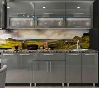 Кухонный гарнитур Bafimob Modern (High Gloss) 2.0m glass Grey