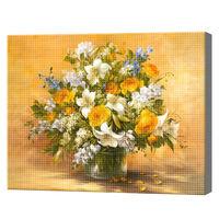 Букет полевых цветов, 30x40 см, алмазная мозаика