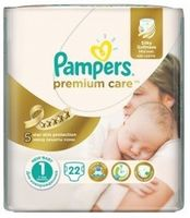 Pampers Premium Care 1 (2-5кг.) 22 шт.