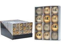 Набор шаров 12X50mm, золотые, в коробке