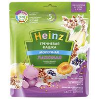 Heinz Лакомая каша гречневая молочная грушка, абрикос, смородинка, 5+мес. 170 г