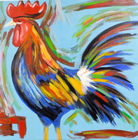 Oil Paintings Cock-a-doodle-doo (ANI16000998)