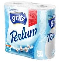 GRITE - Туалетная бумага PERLUM 3 слоя 4 рулона 18,75м
