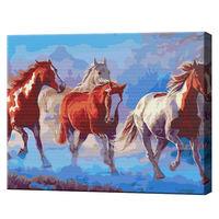 Turma de cai, 40х50 cm, pictură pe numere BS8467