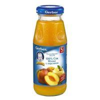 Gerber сок яблоко - персик c 5 меc. 175мл