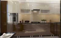 Bucătărie Bafimob Corner (High Gloss) 4.1x0.9m Eco +tandembox Brown/Beige