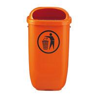 cumpără Coş pentru gunoi din plastic 50 l, oranj în Chișinău
