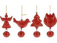 cumpără Decoratiune pentru brad cu clopotel rosu/alb 11cm în Chișinău