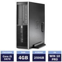 Настольный компьютер HP Compaq 8300 Elite (134950) ( i5-3470 |4 GB | 250GB| Win10 Pro | SFF )