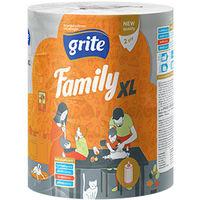 GRITE - Полотенце кухонное Family XL, 2слоя 1 рулон, 45м