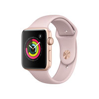 Apple Watch Series 3, 42mm, Aluminium Case, Sport Band, Pink Sand