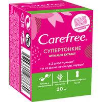 Ежедневные прокладки Carefree Individual Pack супертонкие с экстрактом Алоэ, 20 шт.