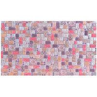 Влагостойкая панель мозаика травертин корица