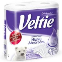 Veltie супервпитывающие бумажные полотенца, 2 рул., 3 слоя