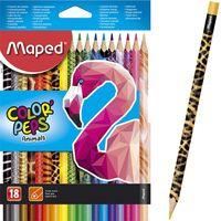 MAPED Карандаши цветные MAPED Animals, 18 цветов