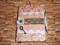 Дневник розовый и золотой