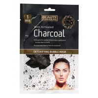 Beauty Formulas Deotxifying Bubble Mask with Activated Charcoal - Маска для лица пенящаяся