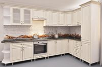 Bucătărie Bafimob Corner MDF 3.4x1.7m Beige