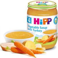 Hipp пюре овощной суп с индейкой, 4+мес. 190г