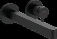 Finoris Baterie pentru lavoar,cu instalare ascunsă, 22,8 cm, negru mat