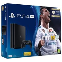 Game Console Sony PlayStation 4 PRO 1TB Black, 1 x Gamepad (Dualshock 4) + Fifa 2018