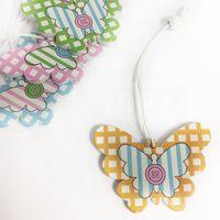 Бабочка деревянная подвеска, 1 штука, цветная